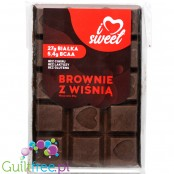 iLoveSweet sugar free protein dark chocolate with cherries