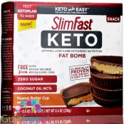 Slim Fast Keto Fat Bomb Peanut Butter Cups with MCT