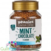 Beanies Decaf Mint Chocolate instant flavored coffee 2kcal pe cup