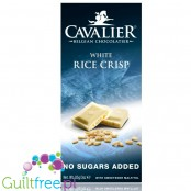 Cavalier no sugar added white chocolate with rice crispies