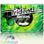 Trident Senses Rainforest Mint miętowa guma do żucia bez cukru