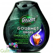 Teisseire Gourmet Drops Chocolate naturally flavoured liquid coffee sweetener