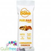 Buff Bake, Keto Fuel Bar + MCT, Cinnamon Crunch - vegan ketogenic bar with monk fruit