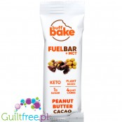 Buff Bake, Keto Fuel Bar + MCT, Peanut Butter Cacao