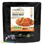 Performance Meals Tender pieces of chicken breast and whole grain brown rice in a peri peri style sauce