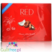 RED Chocolette Coconut no sugar added milk chocolate pralines, 50% less calories
