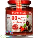 Sukrin trawberry, sugar free jam with stevia, 80% fruits