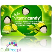 Jake Vitamin Candy Lime & Green Tea - sugar free candies with vitamin C