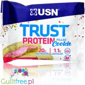 USN Trust filled protein cookie Birthday Cake