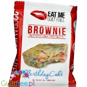 EatMe Guilt Free, Brownie, Birthday Cake low carb, flourless, high protein blondie with sprinkles