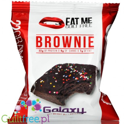 EatMe Guilt Free, Brownie, Galaxy (Chocolate with Sprinkles)