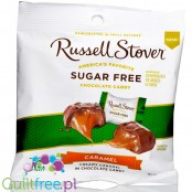 Russell Stover Stevia Caramel - sugar free chocolate covered creamy caramel candies