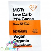 Funky Fat Foods KetoCacao Hazelnut - keto chocolate with MCT, dark & hazelnuts