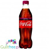 Coca Cola Cherry Zero sparkling low calorie cherry flavored soft drink with vegetable extracts with sweeteners - carbonated low-
