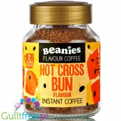 Beanies Hot Cross Bun instant flavored coffee 2kcal pe cup