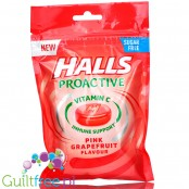 Halls Proactive Pink Grapefruit sugar free candies with vit C