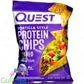 Quest Tortilla Chips, Loaded Taco - chipsy proteinowe 19g białka