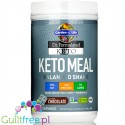 Garden of Life Keto Meal Balanced Shake, Chocolate - ketogeniczny koktajl z Lactobacillus plantarum