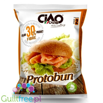 CiaoCarb Protobun LC low calories food preparation