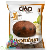 CiaoCarb Protobun LC low calories food preparation - low protein carbohydrate cocoa roll *, contains sweetener