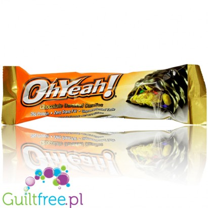 OhYeah Chocolate Candy - Chocolate-Caramel High Protein Chocolate Bar with chocolate candies in crunchy crusts