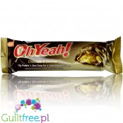 OhYeah Chocolate & Caramel - High-protein chocolate-caramel bar, contains sugar and sweeteners
