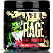 Warrior Rage Pre-Workout Zombie Blood, Halloween limited edition