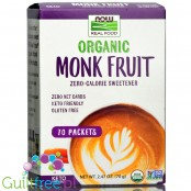 NOW Foods  Monk Fruit Packets, Organic
