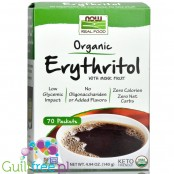 NOW Foods Erythritol with Monk Fruit Packets, Organic