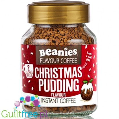 Beanies Christmas Pudding instant flavored coffee 2kcal pe cup