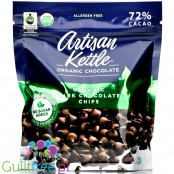 Artisan Kettle No Sugar Added Organic Dark Chocolate Chips, 72% Cacao