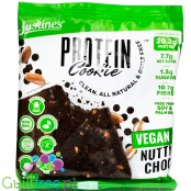 Justine's Cookies, Vegan Protein Cookie Nutty Choc - keto cookie with stevia