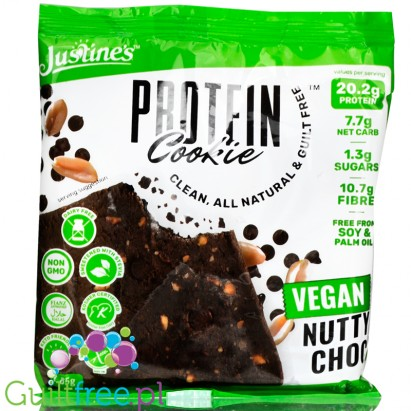 Justine's Cookies Vegan Protein Cookie Vegan Nutty Choc