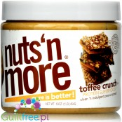 Nuts' n More Toffee Peanut Butter Crunch No Sugar Added with Xylitol and Whey Protein