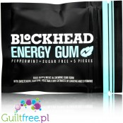 Blockhead Energy Gum Pieces Peppermint - guma do żucia bez cukru z kofeiną