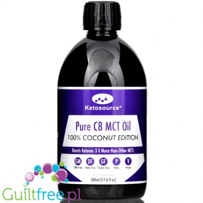 Ketosource Premium Pure C8 MCT Oil from 100% Coconut 500ml