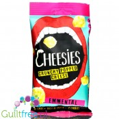 Cheesies Crunchy Popped Cheese Snack, Emmental No Carb, High Protein, Gluten Free, Vegetarian, Keto