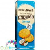 Body Attack Coconut protein cookies, sugar free, 150g