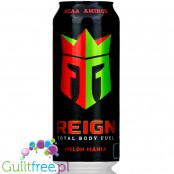 REIGN Total Body Fuel Melon Mania zero calorie & sugar free energy drink with BCAA