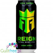 REIGN Total Body Fuel Sour Apple zero calorie & sugar free energy drink with BCAA