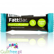 FattBar Coconut Macadamia, Low Carb, No Added Sugar, All Natural, Vegan bar
