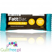 FattBar Caramel Sea Salt Keto, Low Carb, No Added Sugar, All Natural, Vegan bar