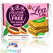 Lea Life no added sugar,gluten free and lactose free waffers with cocoa cream