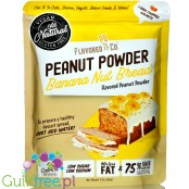 Flavored PB & Co Peanut Powder - Banana Nut Bread, low calorie defatted natural powdered peanut butter with stevia