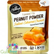 Flavored PB & Co Peanut Powder - Salted Caramel Crunch, low calorie defatted natural powdered peanut butter with stevia