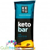 Perfect Keto Bar, Chocolate Chip Cookie Dough - organiczny keto baton ze stewią i MCT