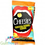 Cheesies Crunchy Popped Cheese Snack, Cheddar. No Carb, High Protein, Gluten Free, Vegetarian, Keto