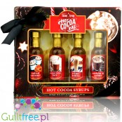 Skinny Syrups Sampler Hot Cocoa Syrup - gift set of zero calorie mini syrups