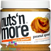 Nuts' n More Peanut Butter No Sugar Added with Xylitol and Whey Protein