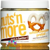 Nuts 'N More White Chocolate Pretzel Peanut Butter with Whey Protein, flax and xylitol